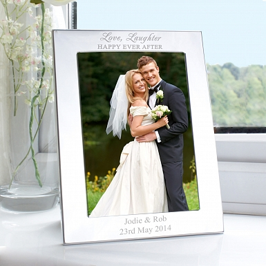 Personalised Silver Happily Ever After Photo Frame UK [United Kingdom]