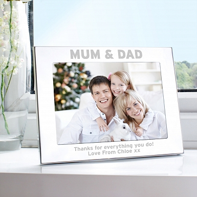 Personalised Silver 5x7 Mum & Dad Photo Frame