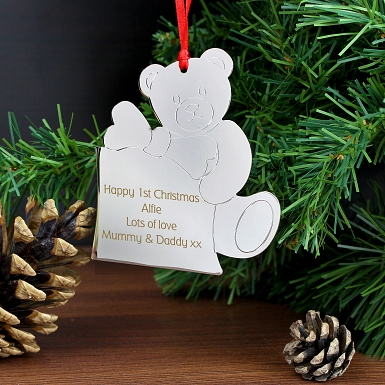 Personalised Teddy Tree Decoration