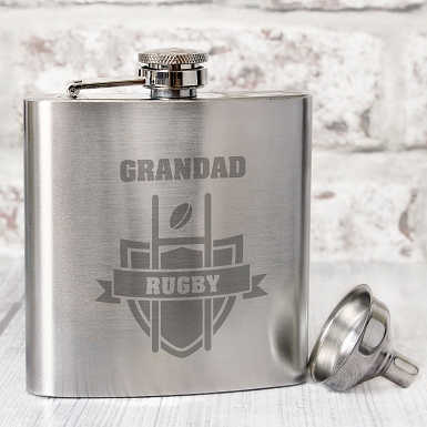 Personalised Rugby Hip Flask