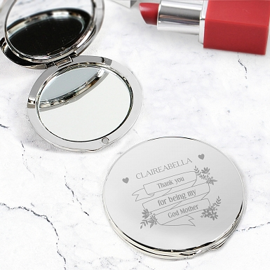 Personalised Garden Bloom Compact Mirror