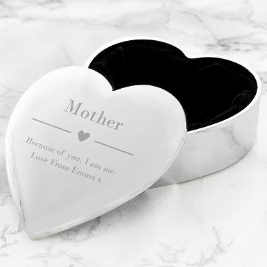 Personalised Decorative Heart Trinket Box