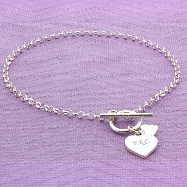 Hearts T-Bar Bracelet delivery to UK [United Kingdom]