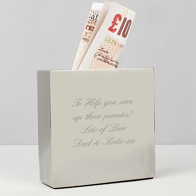 Personalised Square Money Box