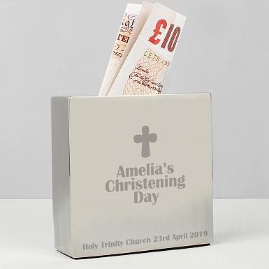 Personalised Cross Square Money Box