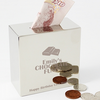 Personalised Milk Chocolates Square Money Box