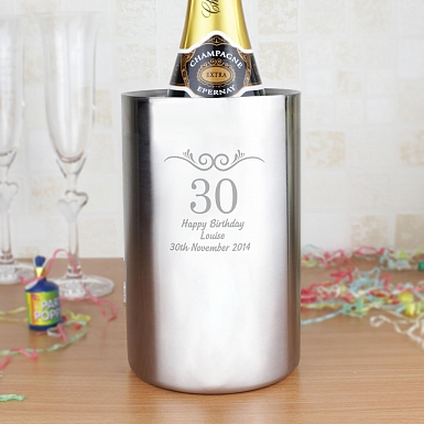 Personalised Number Frame Wine Cooler