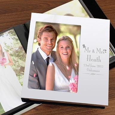 Personalised Decorative Wedding Photo Frame Album 6x4