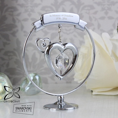 Crystal Heart Ornament
