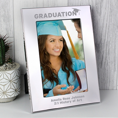 Personalised Silver 4x6 Graduation Photo Frame
