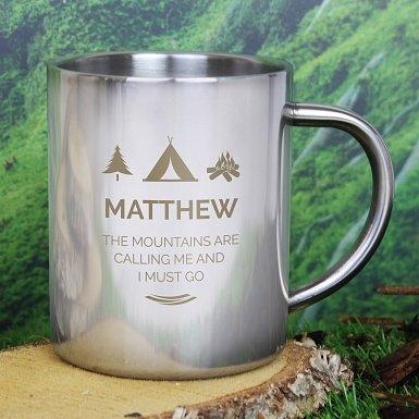 Personalised 'Wilderness Wanderer' Metal Mug