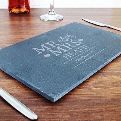 Personalised Mr & Mrs Slate Board