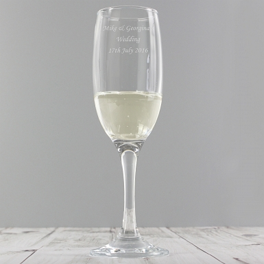 Personalised Traditional Toast Flute