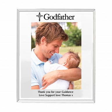 Personalised Mirrored Godfather Glass Photo Frame 5x7