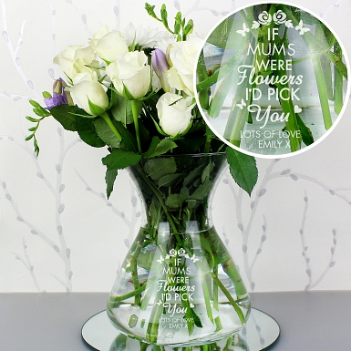 Personalised Pick You Glass Vase