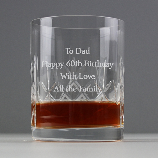 Personalised Crystal Whisky Tumbler