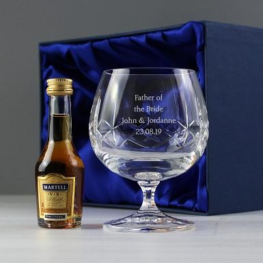 Personalised Crystal & Brandy Gift Set