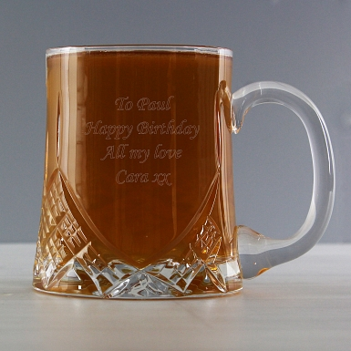 Personalised Half Pint Crystal Tankard