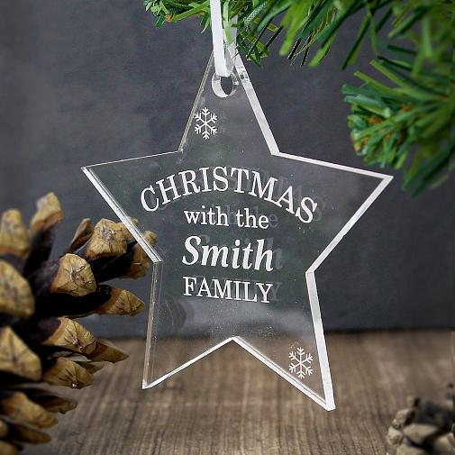 Personalised Acrylic Christmas Star Decoration