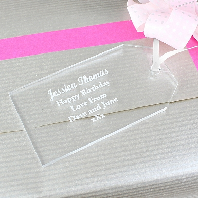 Personalised Acrylic Gift Tag Decoration