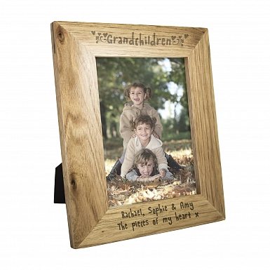 Personalised 5x7 Grandchildren Wooden Photo Frame