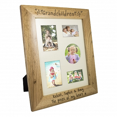 Personalised Grandchildren 10x8 Wooden Photo Frame