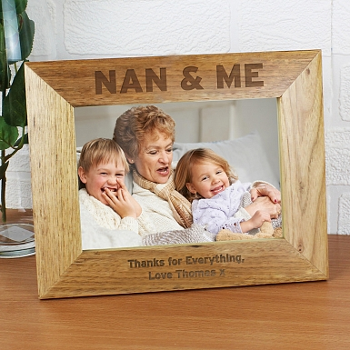 Personalised Nan & Me 5x7 Wooden Photo Frame