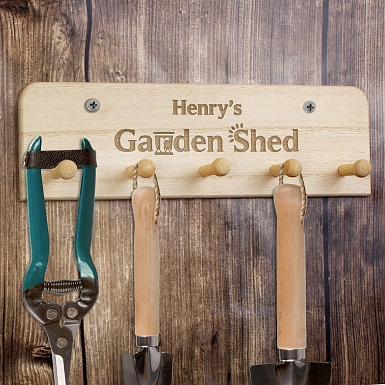 Personalised Garden Shed Key / Tool Holder