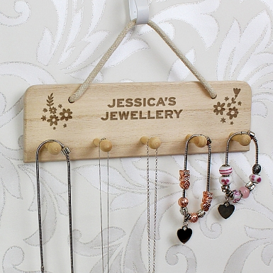 Personalised Wooden Jewellery Display Holder