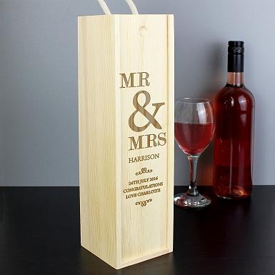 Personalised Couples Bottle Presentation Box