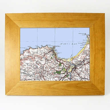 Personalised Postcode Map 10x8 Wooden Frame - Popular Edition
