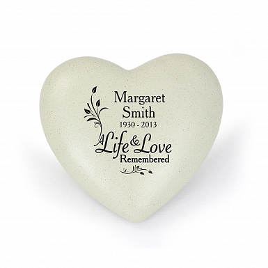 Personalised Life & Love Heart Memorial