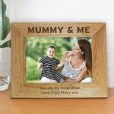 Personalised Mummy & Me 5x7 Wooden Photo Frame
