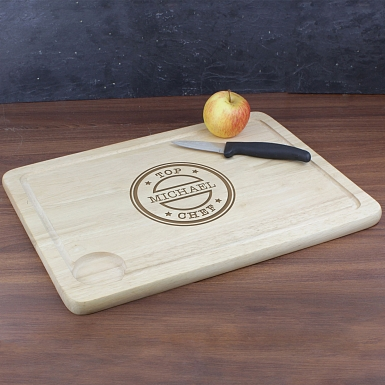 Personalised Top Chef Carving Board