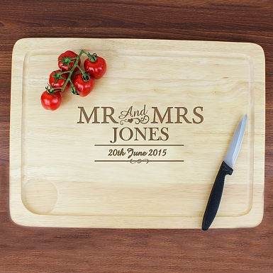 Mr and Mrs Meat Carving Board