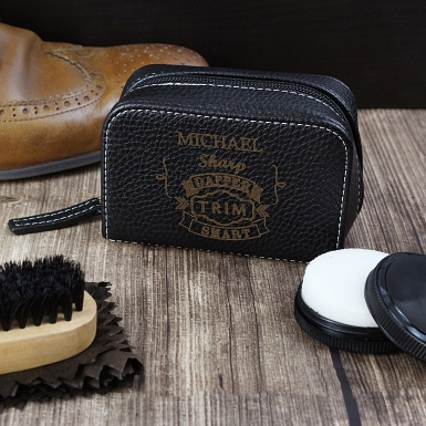 Vintage Typography Shoeshine Kit