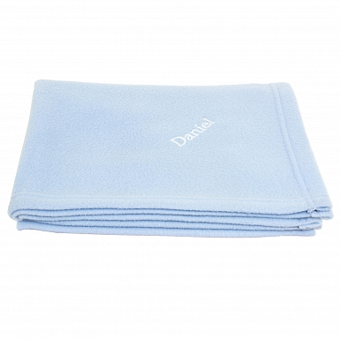 Personalised Blue Baby Blanket