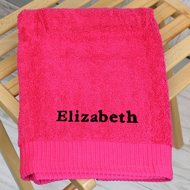 Personalised Bright Pink Hand Towel