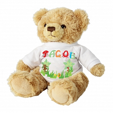 Personalised Animal Name T-Shirt Message Bear