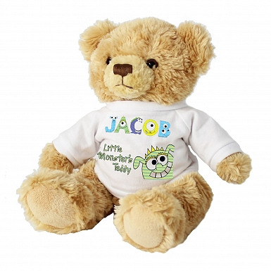 Personalised Little Monster Message Bear
