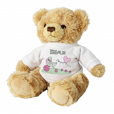 Personalised Whimsical Pram Message Bear