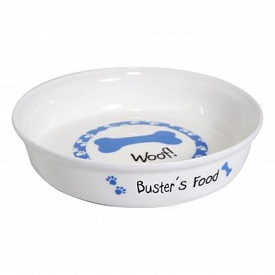 Personalised Blue Dog Bowl