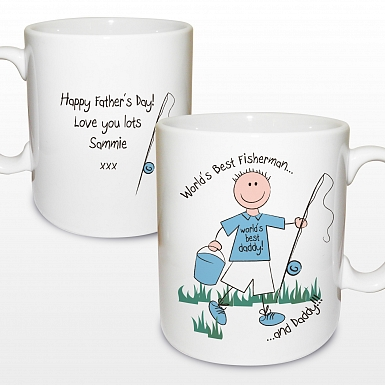 Personalised Worlds Best Fisherman Mug