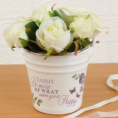 Secret Garden Porcelain Bucket