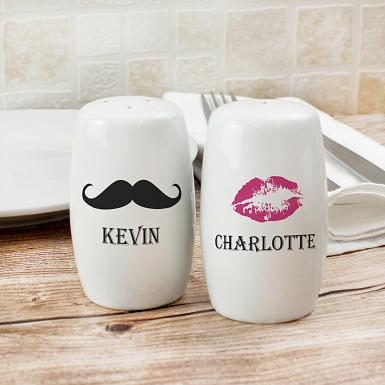 Moustache and Lips Salt and Pepper Set