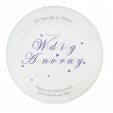 Personalised Anniversary Word Plate