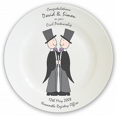 Personalised Male Wedding & Civil Partnership Plate