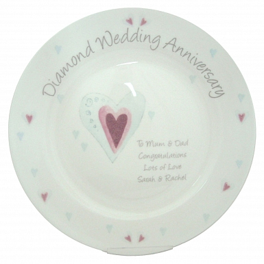 Personalised Diamond Anniversary Plate