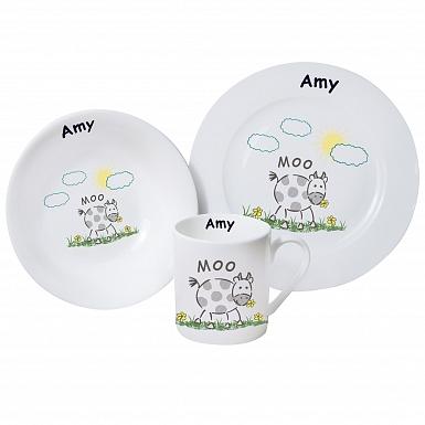 Personalised Moo Breakfast Set