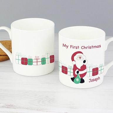 Personalised Santa with Presents Mug
